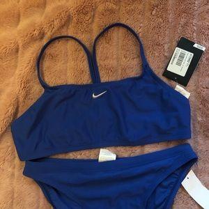 NWT blue Nike Sporty Bikini sz 12